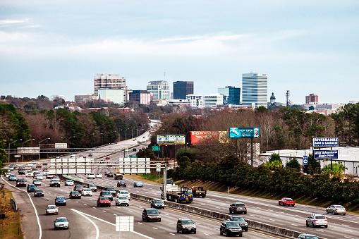 Interstate traffic, South Carolina